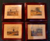 4 ORIGINAL HUNTING PRINTS IN PERIOD FRAMES, 1835 CIRCA - 1 of 1