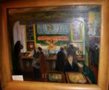 SHOOTING GALLERY AT THE ARCADE, OIL ON CANVAS 24 X 30 BY GEORGE PICKENS - 1 of 1