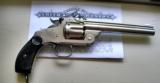 SMITH & WESSON RARE NEW MODEL 3 NICKEL FINISH DOCUMENTED FOR NAVY 1894 44 RUSSIAN REVOLVER