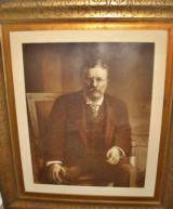 PRESIDENT THEODORE ROOSEVELT PHOTO GRAVUARE IN ORIGINAL FRAME