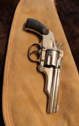 Merwin and Hulbert 38 cal revolver Nickel finish - 2 of 8