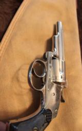 Merwin and Hulbert 38 cal revolver Nickel finish - 5 of 8