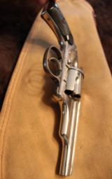 Merwin and Hulbert 38 cal revolver Nickel finish - 4 of 8