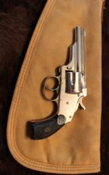 Merwin and Hulbert 38 cal revolver Nickel finish - 3 of 8