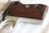 Beretta M70 Factory Engraved 7.65mm in Jewlery Box - 12 of 15