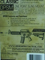 ONE POINT SLING MOUNT (OPSM) By MISSION FIRST TACTICAL