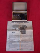 Colt nickel .25 Vest Pocket Auto Model 1908 in the box with paperwork - 17 of 18
