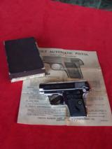 Colt nickel .25 Vest Pocket Auto Model 1908 in the box with paperwork - 15 of 18