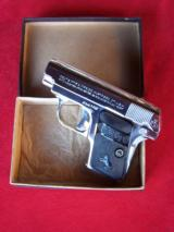 Colt nickel .25 Vest Pocket Auto Model 1908 in the box with paperwork - 2 of 18