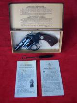 Colt Bankers Special .22 in Box with Letter 99.9%+
