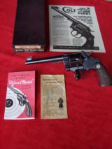 Colt Officers Model Target .38 Heavy Barrel Revolver with Box.
