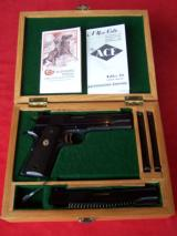 Colt 1911 National Match .45 caliber With .22 Conversion Unit and Two Magazines in Wooden Case