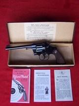 """Colt Officers Model Target .38 Special 6"""" Barrel in Original Box 99%"""