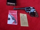 "Colt Officers Model Target .38 Special 6"" Heavy Barrel with Box & Paperwork 99+%"
