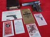 Colt Government Model 1911 .45 Caliber in Box with paperwork from 1920