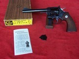 Colt Officers Model Match .38 Special with box and paperwork from 1966