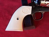 """USFA 12/22 SAA 5 1/2"""" Revolver with Nickel Cylinder & White HR Grips - 17 of 20"""