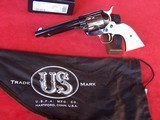 """USFA 12/22 SAA 5 1/2"""" Revolver with Nickel Cylinder & White HR Grips - 2 of 20"""
