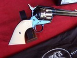 """USFA 12/22 SAA 5 1/2"""" Revolver with Nickel Cylinder & White HR Grips - 4 of 20"""