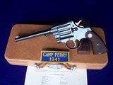 """Colt Camp Perry 8"""" with Factory Letter & Extras in a 1930's Travel Case - 5 of 20"""