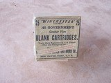 Winchester Full Box of 25 Government (.45-70) Blank Cartridges, Specially Loaded to Order, Rare - 1 of 3