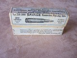 Savage Original Early Sealed Box of .250-3000 Ammo Rare Find, Very Desirable & Minty Condition - 5 of 6