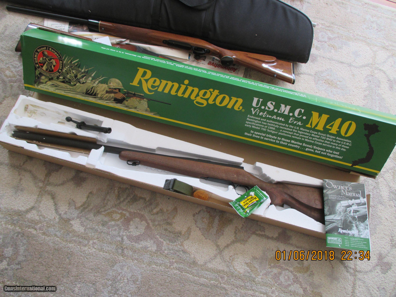 remington 700 m40 u s m c sniper
