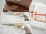 Colt SAA 44 Nickel Consecutive Set NIB - 1 of 8