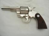 1963 Colt Trooper Nickel 357 4 Inch
