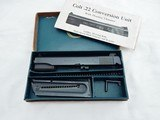 1950's Colt 22 Conversion Kit 1911 In The Box