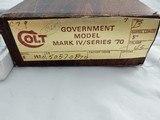 1980 Colt 1911 Government 45ACP NIB - 2 of 6