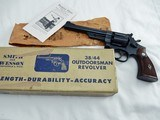 1954 Smith Wesson Pre 23 Outdoorsman In The Box