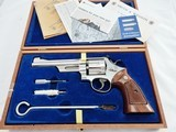 1979 Smith Wesson 27 Nickel New In Case