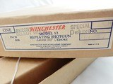 1948 Winchester Model 12 Factory Engraved Grade 5 Gold With Letter In The Box - 4 of 22
