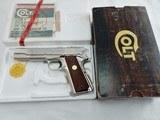 1979 Colt 1911 Government Nickel In The Box NIB