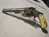 SMITH & WESSONMODEL 3, 3RD RUSSIAN, .44 RUSSIAN CALIBER, NICKEL AND IVORY - 1 of 15