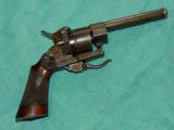 FRENCH ENGRAVED PIN FIRE REVOLVER - 1 of 4