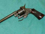 FRENCH ENGRAVED PIN FIRE REVOLVER - 4 of 4