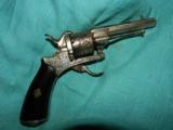 ENGRAVED PIN FIRE REVOLVER - 2 of 5