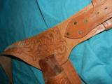 HAND TOOLED COLT SAA BUSCADERO HOLSTER - 4 of 4