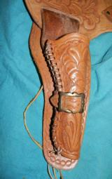 HAND TOOLED COLT SAA BUSCADERO HOLSTER - 3 of 4