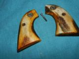 COLT SAA VINTAGE STAG GRIPS WITH MEDALLIONS - 1 of 4