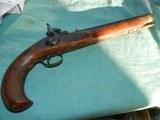 Engraved Long Barrel Kentucky Percussion Pistol