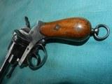 Civil War Lefaucheux D. A. Pinfire Revolver - 2 of 8