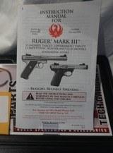 "Ruger Mark III 22/45 Target Model 22 Long Rifle Autoloading Pistol 5 1/2 "" Barrel - 2 of 6"