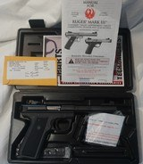 "Ruger Mark III 22/45 Target Model 22 Long Rifle Autoloading Pistol 5 1/2 "" Barrel - 1 of 6"