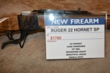Ruger No.1 22 Hornet With Color Case Receiver #21321 LIMITED - Non Cataloged Item!