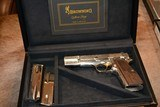 Browning Hi Power Renaissance Silver NEW From the Custom Shop