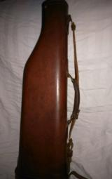 Abercrombie&Fitch leg of mutton leather takedown case ' rare and hard to find - 1 of 15