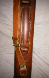 Abercrombie&Fitch leg of mutton leather takedown case ' rare and hard to find - 5 of 15